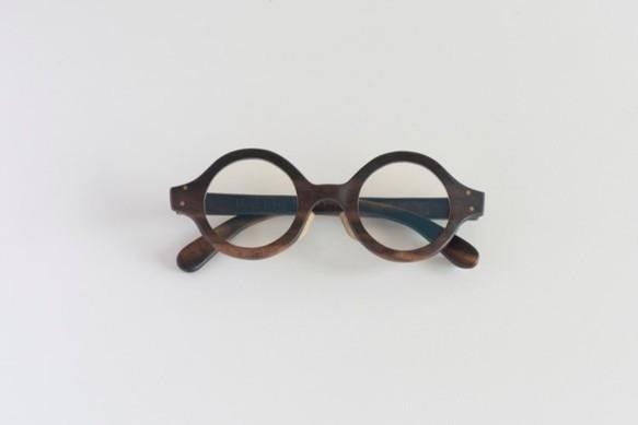 黒柿のラウンド眼鏡【オーダー制作】  |メガネ|ハンドメイド通販・販売のCreema (5865)