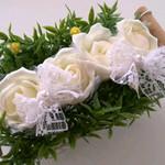 大切なふたりの結婚式にぴったりなハンドメイドのかわいいリングピロー◎