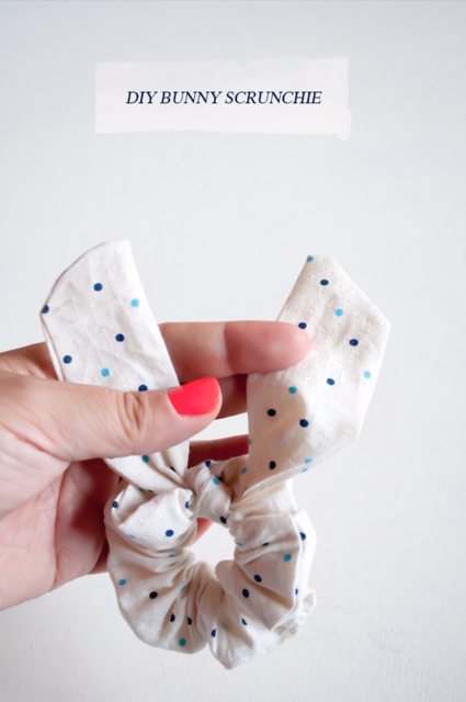 Oh the lovely things: Easter DIY: No Sew Bunny Ear Scrunchie (6530)