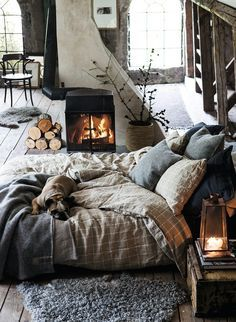 + #wood #fireplace #barn | Home | Pinterest | Fireplaces, Bedrooms and Beds (6598)