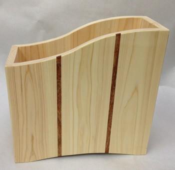 桧 無垢 マガジンラックⅡ A4サイズ対応  本  収納|本棚・絵本棚|ハンドメイド通販・販売のCreema (9983)