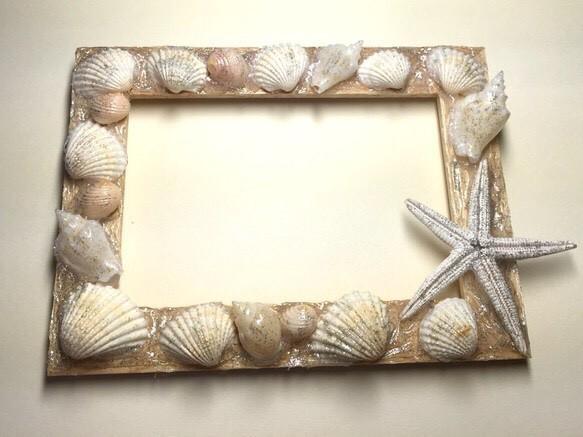 貝殻のフォトフレーム|フォトフレーム・写真立て|ハンドメイド通販・販売のCreema (10022)