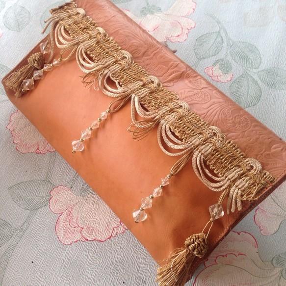 モロッコタッセルのヌメ革フリンジクラッチバッグ|クラッチバッグ|ハンドメイド通販・販売のCreema (10261)