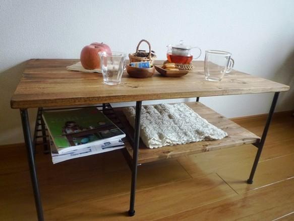 アイアン・ウッドリビングソファローテーブル|テーブル・デスク|ハンドメイド通販・販売のCreema (10333)