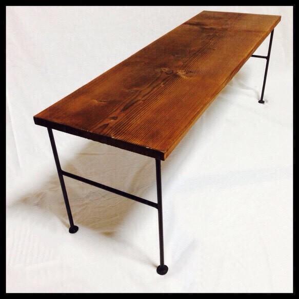 天然一枚板とアイアンのローテーブル|テーブル・デスク|ハンドメイド通販・販売のCreema (10339)