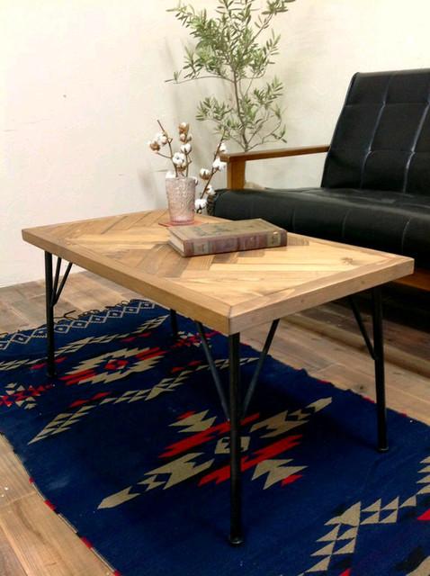 ヘリンボーン ローテーブル(ironleg)|テーブル・デスク|ハンドメイド通販・販売のCreema (10342)