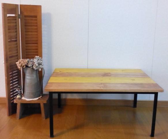 木と鉄のローテーブル 横幅80cm|テーブル・デスク|ハンドメイド通販・販売のCreema (10345)