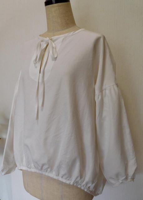 しわしわふんわりの白いゆったりブラウス|シャツ|ハンドメイド通販・販売のCreema (10514)