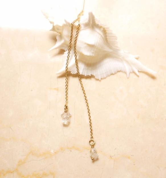 ハーキマーダイヤモンドのピアス ~Apolena|ピアス(フック・チェーン)|ハンドメイド通販・販売のCreema (10573)