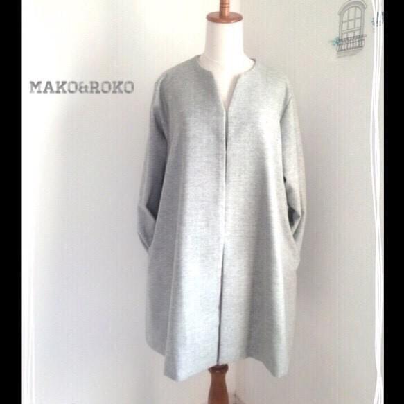【Lサイズ/ライトグレー】ウール上品ハーフフレア☆スプリングコート♥️|コート・ジャケット|ハンドメイド通販・販売のCreema (10588)