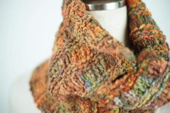 手紡ぎ糸のネックウォーマー|マフラー・スヌード|ハンドメイド通販・販売のCreema (10630)