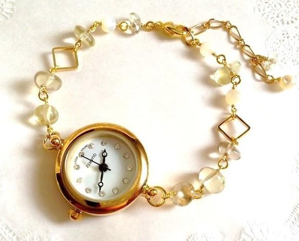 ビアクォーツのブレスレットウォッチ|腕時計|ハンドメイド通販・販売のCreema (10644)