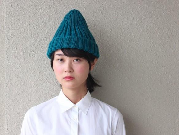 二目ゴム編みのニット帽 アボカドグリーン|帽子|ハンドメイド通販・販売のCreema (10689)
