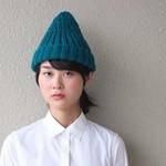 シャツ+デニムの定番スタイルに合わせたい✳︎色がきれいなシンプルニット帽✳︎