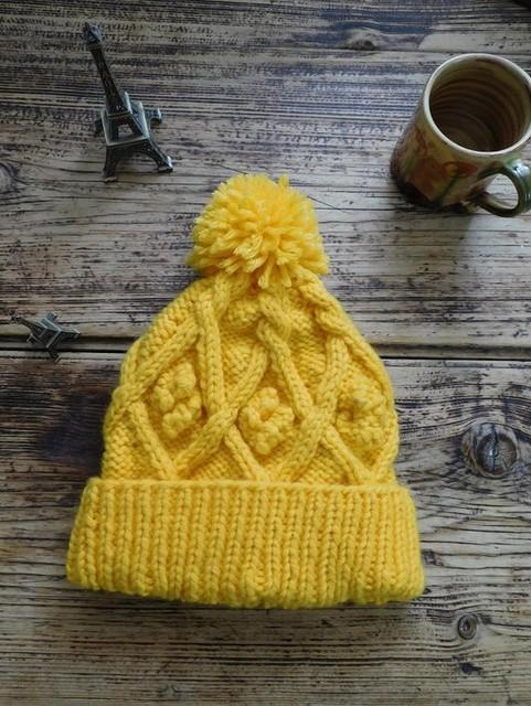 フランスより送料込み☆暖かニット帽☆イエロー|帽子|ハンドメイド通販・販売のCreema (10695)