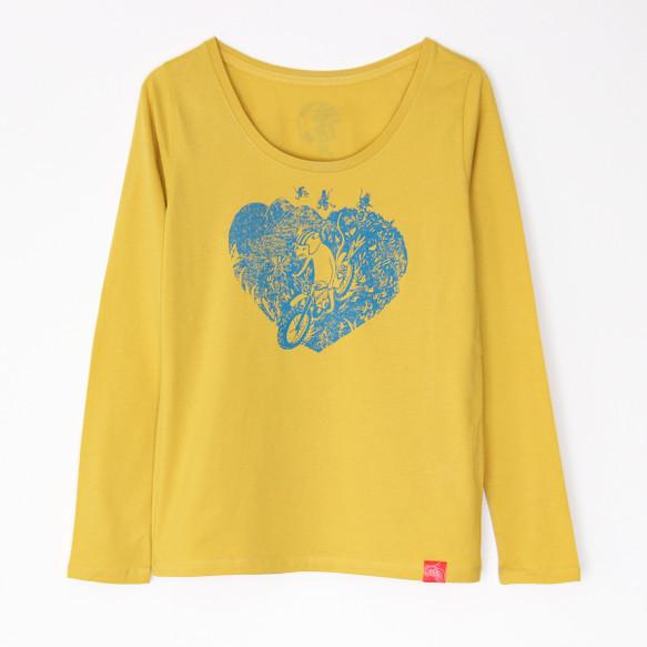 ネズミくんのT-シャツ Lady's 長袖 yellow×blu|Tシャツ・ポロシャツ|ハンドメイド通販・販売のCreema (10706)