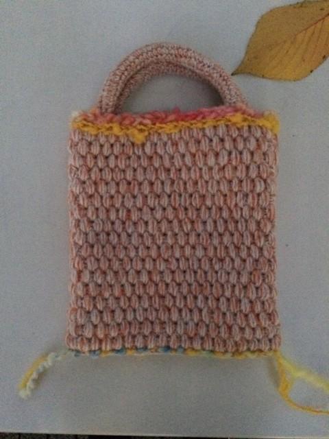 ボッブルのニットバッグ(オレンジ)|トートバッグ|ハンドメイド通販・販売のCreema (10763)