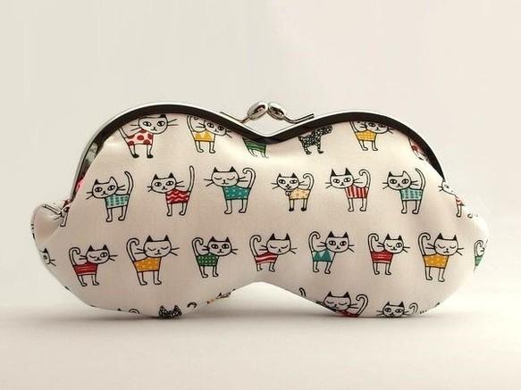 【受注制作】 可愛いネコさん - 山型メガネケース/がま口ポーチ|ケース・その他|ハンドメイド通販・販売のCreema (10783)