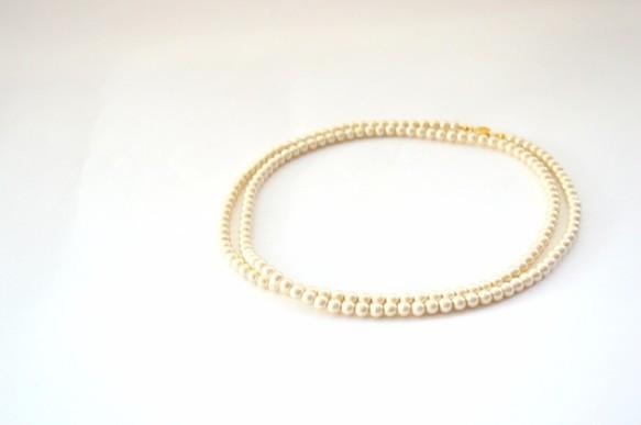 Long Cotton Pearl Necklace|ネックレス・ペンダント|ハンドメイド通販・販売のCreema (10809)