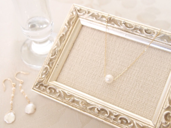 K10  akoya pearl ネックレス|ネックレス・ペンダント|ハンドメイド通販・販売のCreema (10818)