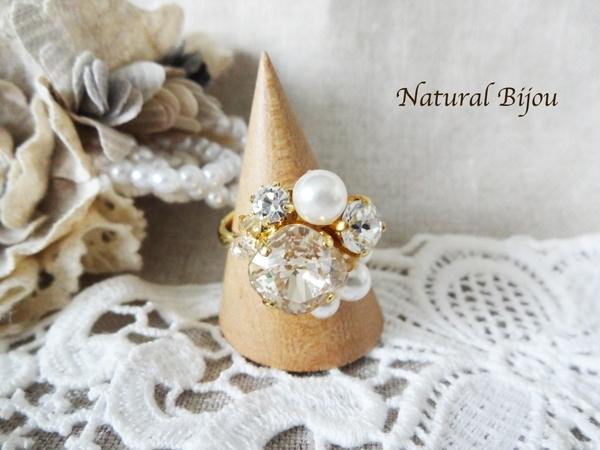 *感謝sale*Bijou ring-y | アクセサリー > 指輪・リング > ビーズ・スワロ | ハンドメイド・手作りマーケット tetote(テトテ) | 作品ID:fl2139247680 (11238)