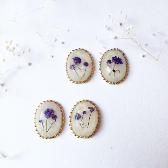 milky flower  イヤリング・ピアス|イヤリング|ハンドメイド通販・販売のCreema (11546)