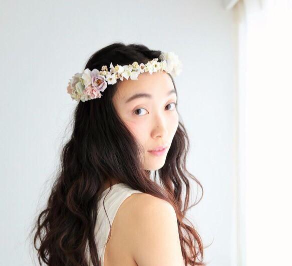 【SALE】花冠 *antique purple|ヘッドドレス・ドレス|ハンドメイド通販・販売のCreema (11549)