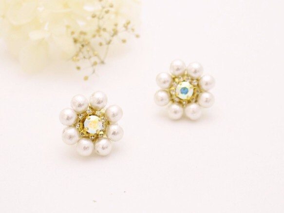 Bridal perl イヤリング&ピアス|その他オーダーメイド|ハンドメイド通販・販売のCreema (11550)