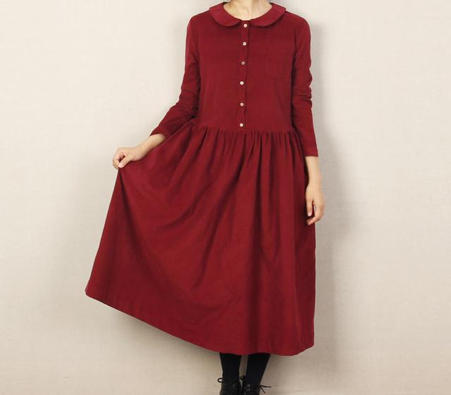 長袖 コットン ワンピース by Fbaby ファッション ワンピース | ハンドメイドマーケット minne(ミンネ) (11606)