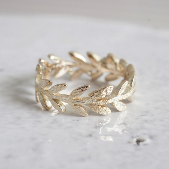Olive leaf ring {R066K10}|指輪|ハンドメイド通販・販売のCreema (11654)