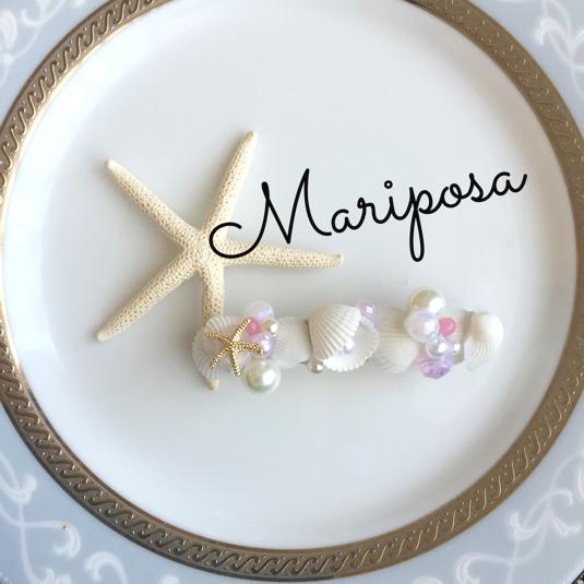 マーメイドバレッタ by mariposaマリポサ アクセサリー ヘアアクセサリー | ハンドメイドマーケット minne(ミンネ) (11756)