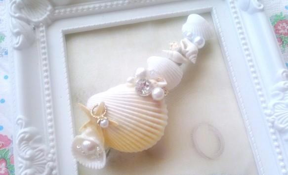 人魚にpropose貝殻バレッタ|バレッタ|ハンドメイド通販・販売のCreema (11769)