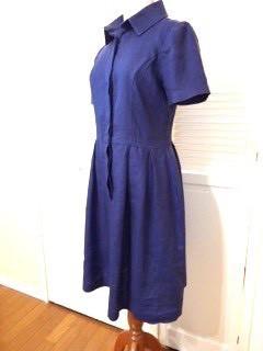 瑠璃紺の麻ワンピース|ワンピース|ハンドメイド通販・販売のCreema (11786)