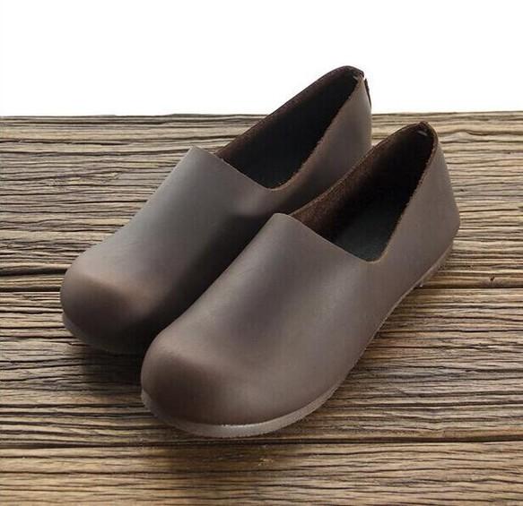 【受注製作】 彩物手作り♪100%牛革縫製ぺたんこ靴、丸トウ  KT738290|靴・スニーカー・サンダル|ハンドメイド通販・販売のCreema (11988)