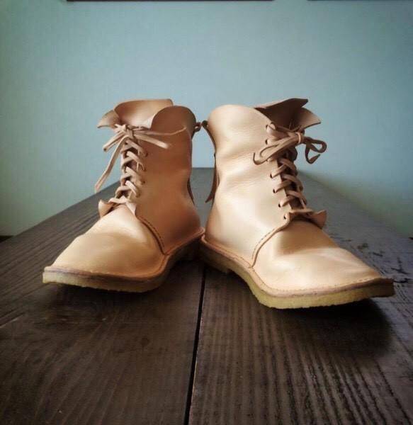 きなりの編み上げ靴|靴・スニーカー・サンダル|ハンドメイド通販・販売のCreema (11992)