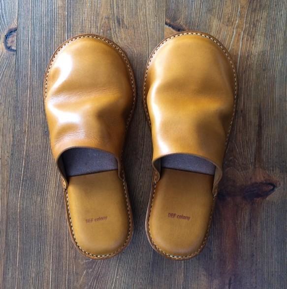革のスリッパ|靴・スニーカー・サンダル|ハンドメイド通販・販売のCreema (12002)