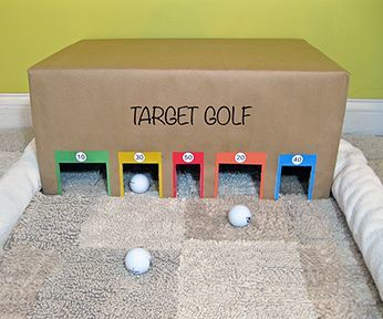 Target golf game. Easy to make, lots of fun. - good idea for some indoor winter fun!   Things To Make and Do   Pinterest   Target と ゴルフ (12059)