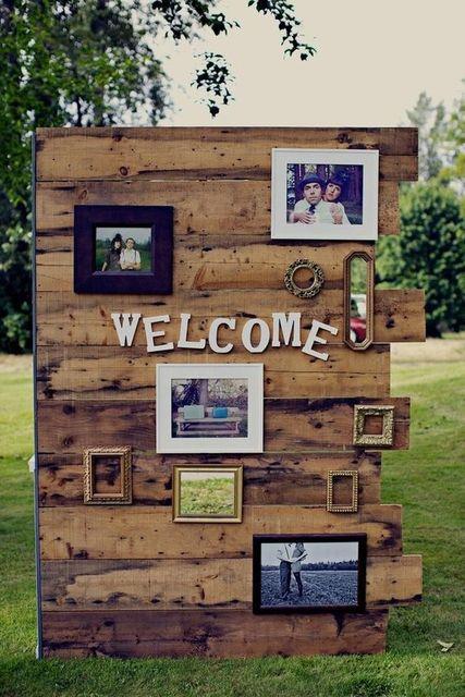 海外風ウェディングの必須アイテム!海外のおしゃれなウェルカムボード特集♡|marry[マリー] | wedding | Pinterest (12075)