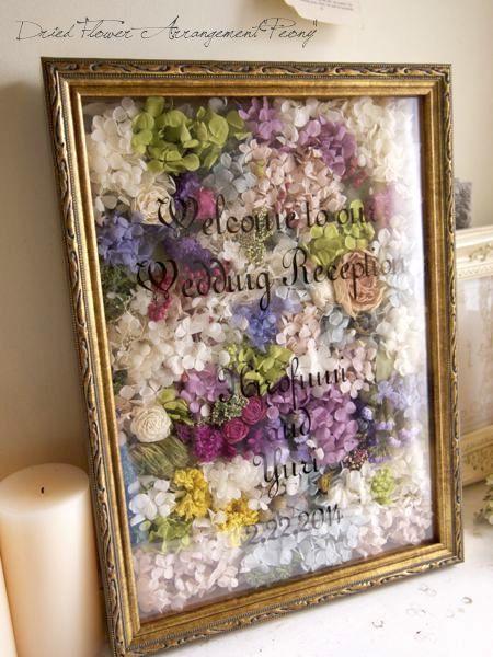 ウェルカムボード/L【オーダーメイド】- ドライフラワーリース&アレンジ | Dried Flower Arrangement ''Peony'' ピオニー (12098)