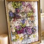 *お花をあしらった大人可愛いウエルカムボードでゲストをお出迎え*