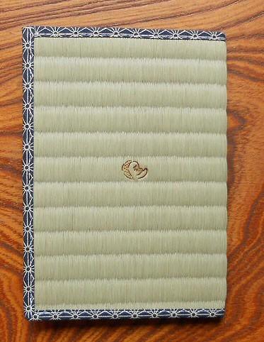 四方縁 畳ブックカバーひょっとこ~麻の葉縁 紺~文庫サイズ|ブックカバー|ハンドメイド通販・販売のCreema (12147)