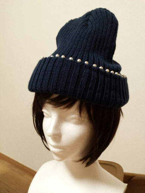 パールニット帽 | ハンドメイド、手作り作品の通販 minne(ミンネ) (12264)