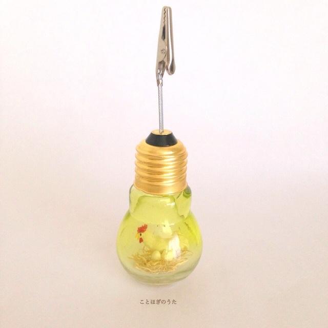 メモスタンド  [電球・ニワトリ]  T567 | ハンドメイド、手作り作品の通販 minne(ミンネ) (12294)