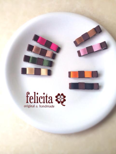 チョコレートカラーのヘアクリップ(2個セット) | ハンドメイド、手作り作品の通販 minne(ミンネ) (12630)