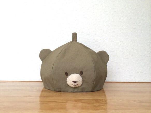 こども∞くまベレー帽 カーキ|帽子|ハンドメイド通販・販売のCreema (12683)