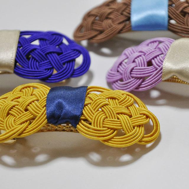 ⬛再販⬛絹水引で作ったリボンのバレッタ和カラー | ハンドメイド、手作り作品の通販 minne(ミンネ) (12737)