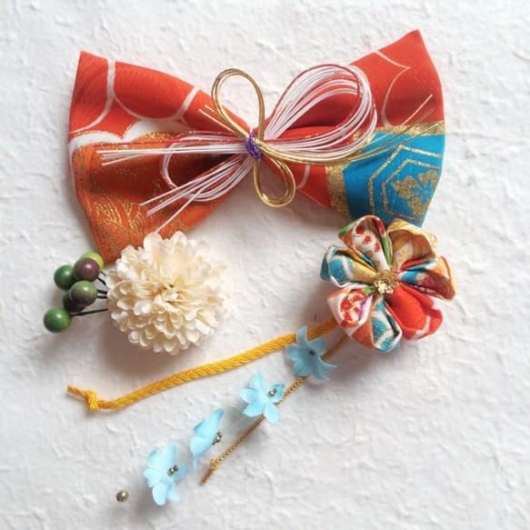 レトロモダン 大人なアンティークリボンの京美人飾りG|和装・着物・浴衣|ハンドメイド通販・販売のCreema (12740)