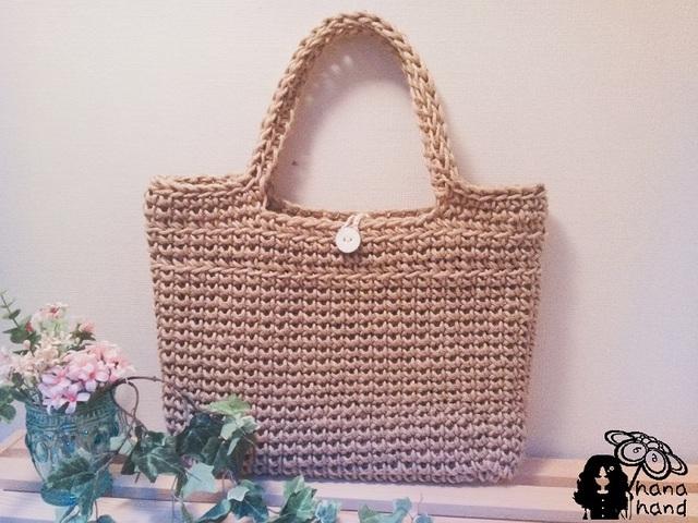 麻糸のトートバッグ | ハンドメイド、手作り作品の通販 minne(ミンネ) (12874)