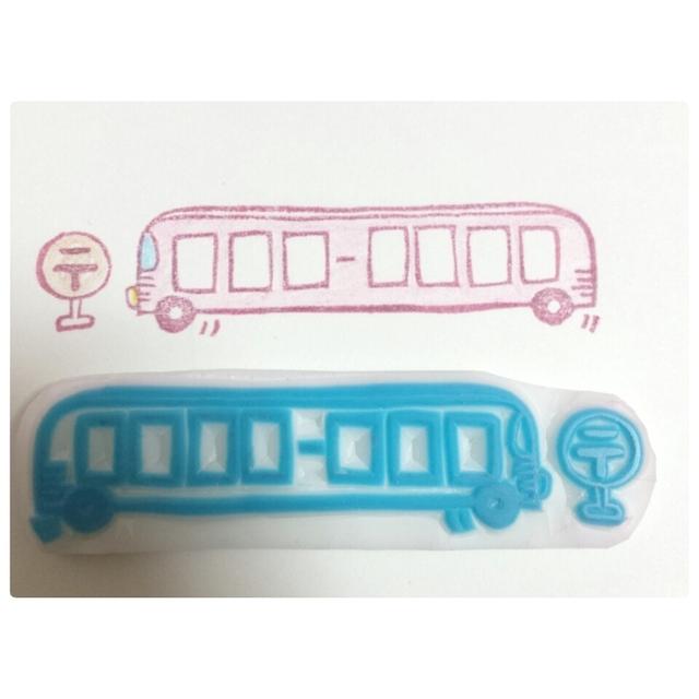 ゆる~いバスの郵便枠*消しゴムはんこ | ハンドメイド、手作り作品の通販 minne(ミンネ) (12925)