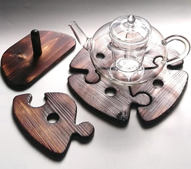 パズルコースターで鍋敷き スタンド付き | ハンドメイド、手作り作品の通販 minne(ミンネ) (13006)